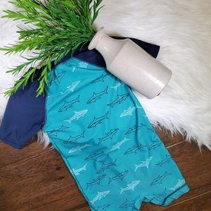 Old Navy Swim Suit   sz 18-24m   blue   white